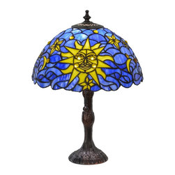 "Meyda Tiffany - Meyda Tiffany 153615 16.5""H Sun, Moon & Stars Table Lamp - Meyda Tiffany 153615 16.5""H Sun, Moon & Stars Table Lamp"