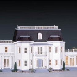 Real Good Toys Foxhall Manor Kit - 1 Inch Scale - Classic American motifs inspired the luxurious federal Real Good Toys Foxhall Manor Kit. The kit comes complete with a two-story front porch, curved balcony, all exterior doors, windows, decorative rails and trims, architectural moldings, a center hall that features two curved staircases and curved third floor landing rails, two skylights, and a Palladian dormer window for the center hall. With 11 glorious rooms, the Foxhall Manor is an elegant dollhouse that is sure to please even the most discerning collector.This kit does not include shingles. If you wish to shingle the Foxhall, you will need approximately 1850 shingles (3/4 shingle X 3/4 reveal). Additions and/or porches are also available separately.Recommended assembly supplies:HammerFine-toothed sawGluesUtility knifeMasking tapeSandpaper: 100 and 320 gritPaintsPaint brushesRuler3/4 or 1-inch bradsElastic bandsStep-by-step instructions with detailed drawings are included. Paint, glue, curtains, and any landscaping or furnishings are not included.Overall dimensions include items that protrude, such as roof cresting. This item is not recommended for children under 3 years.About Real Good ToysBased in Barre, Vt., Real Good Toys has been handcrafting miniature homes since 1973. By designing and engineering the world's best and easiest-to-assemble miniature homes, Real Good Toys makes dreams come true. Their commitment to exceptional detail, the highest level of quality, and ease of assembly make them one of the most recommended names in dollhouses. Real Good dollhouses make priceless gifts to pass on to your children and your children's children for years to come.