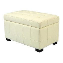 Safavieh - Safavieh Manhattan Storage Bench - Small X-D1024DUH - Care Instruction: Although Leather is one of the most durable upholstery materials, proper care is viatal to maintain its appearance and performance. Dust weekly using a soft, clean cloth slightly dampened with distilled water. Blot spills immediately with a soft, clean absorbent dry cloth.