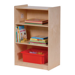 Steffywood - Steffywood Home Bedroom Small Shelf Shelving Storage Unit Organizer - Mobile 3-Shelf narrow storage unit will accommodate books, blocks, toys and many other items.  Sturdy glue and dowel construction.  Tough clear UV finish.
