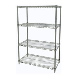 InterMetro Industries - Metro Shelving Unit - 48x14x54 Chrome - As the original wire storage shelving system and still the industry leader, Metro shelving continues to evolve and aims to meet the diversity of todays storage challenges. These professional grade units hold more weight. The four (4) shelves can be positioned, or re-positioned, at precise 1 increments along the length of the posts.  Open wire design minimizes dust accumulation and allows for free circulation of air and greater visibility of stored items. Casters (sold separately) available for mobile applications. This post-based shelving system, created in 1965, is recognized worldwide as the most popular commercial shelving system ever.  Assembly required