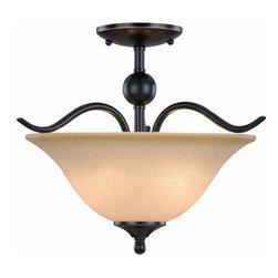 Oil Rubbed Bronze Semi-Flush Mount Ceiling Light Fixture - Finish: Oil Rubbed Bronze
