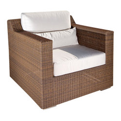 Westminster Teak Furniture - Malaga Luxury Outdoor Patio Furniture, Armchair - Part of the quintessential modular deep seating collection, the Malaga Summer Grass Armchair is designed to look beautiful under the sun, in the shade of your pavilion, or in your living room...it will fit beautifully in any space, inside or out.