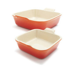 Le Creuset Flame Heritage Square Bakers - Bakeware doesn't have to be boring. A crumble would be served so beautifully in one of these dishes.