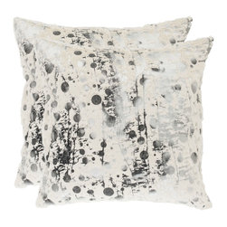 Safavieh - Safavieh Cosmos 20-inch White Decorative Pillows (Set of 2) - With a fresh,contemporary eye-catching pattern,this decorative pillow is a lovely addition to any decor. This throw pillow features a modern print design with a handwoven polyester cover.