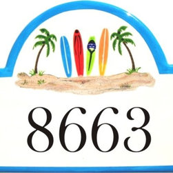 Surfboard Address Plaques - To find out more and how to order click here: