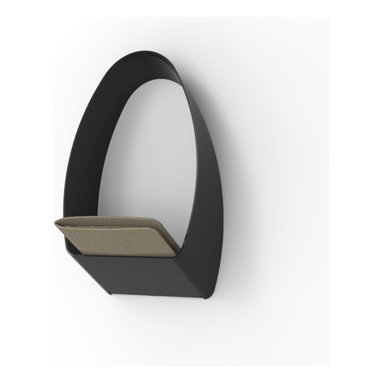 Decorpro - Loop 'Designer Cubby' Coat Hook with Storage - The Loop is an elegantly minimalist coat hanger design with diverse functionality. Loop has been designed to accurately mimic the shape of shirt and jacket collars, allowing them to hang perfectly without causing unsightly folds or wrinkles. This will improve the longevity of your garments by removing the pressure from the shoulders that is created by standard hooks.