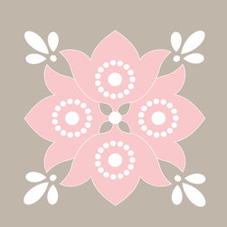 Murals Your Way - Mediterranean Baby - Flower - Petal & Warm Gray Wall Art - Painted by Simon & Kabuki, Mediterranean Baby - Flower - Petal & Warm Gray wall mural from Murals Your Way will add a distinctive touch to any room
