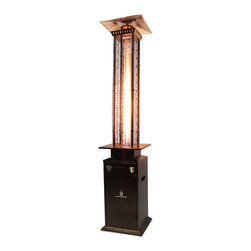 Lava Heat - Lava Heat Italia Quattro 45,000 BTU Propane Patio Heater - Inspired by the sharp cornered stone clock tower of Finale Emilia in the Province of Modena,Quattro rises up to warm and light your outdoor area. The square Quattro heater pumps out 45,000 BTUs of comforting propane heat and gives you a cozy ambience.
