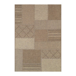 "Couristan - Tides Rockville Rug 0142/0091 - 2' x 3'7"" - Tastefully simple these durable, weather-defying area rugs are suitable for indoor and outdoor use. You'll love the way their warm, neutral color-schemes coordinate with today's most popular outdoor furniture pieces. Perfect for patio decks, kitchens and entryways the simplicity and practicality of each design offered in Tides will provide your setting of choice with an universal appeal."