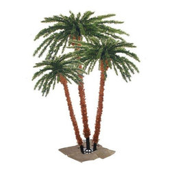 Sterling Inc - Pre-Lit Artificial Palm Tree - Features: -Palm Tree collection. -Light color: Clear. -200 Lights on metal trunk, 450 lights on top. -160 PVC tips.