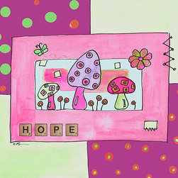 Oh How Cute Kids by Serena Bowman - Hope with Pink, Ready To Hang Canvas Kid's Wall Decor, 11 X 14 - Each kid is unique in his/her own way, so why shouldn't their wall decor be as well! With our extensive selection of canvas wall art for kids, from princesses to spaceships, from cowboys to traveling girls, we'll help you find that perfect piece for your special one.  Or you can fill the entire room with our imaginative art; every canvas is part of a coordinated series, an easy way to provide a complete and unified look for any room.