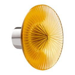 Lalique - Lalique China Mood Amber Cabinet Knob - Lalique China Mood Amber Cabinet Knob