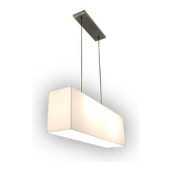 Gus Modern - Gus Modern White Acrylic Hanging Lamp - If you're looking for sleek, sophisticated and simple lighting solutions for your dining table, you've got it made in the shade with this cool, frosted hanging lamp. It offers soft, even light that extends to the far ends of your table.