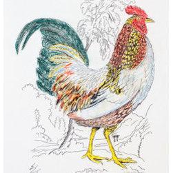 Rooster (Original) by Kathleen Benton - ��Kathleen Benton