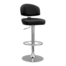 Chintaly Simsbury Adjustable Swivel Bar Stool - Please note: This item is not intended for commercial use. Warranty applies to residential use only.