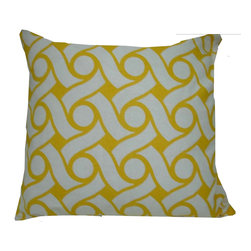 "Concepts Life - Concepts Life Decorative Pillow  Honey Hammock - One of the hottest trends in textiles, interlocking geometric designs make a statement with their bold, tribal patterns. The yellow and white colors in our Honey Hammock pillow take this design to the next level by adding a light and airy feel to the pillow. The perfect accent pillow for every season.  Hand-knit 100% cotton canvas cover Comes with poly filler Spot clean Dimensions: 16""h x 16""w Weight: 1 lb Pillow arrives in a vacuum sealed bag Once the pillow is aired and fluffed it will regain its full, soft and plump shape"