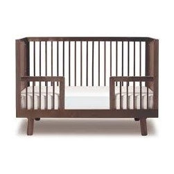 Oeuf Nursery Cribs and Furniture - Oeuf Sparrow Conversion Kit Walnut - With solid construction and subtle color, this non-toxic crib, made from solid birch, is the centerpiece of the eco-friendly nursery. Expertly crafted in Europe from solid birch, the Sparrow Crib is easy to assemble and as safe as can be. A simple conversion kit is available to convert the crib into a toddler bed when the time comes.