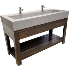 contemporary bathroom sinks by Trueform Concrete
