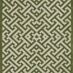 "Loloi Rugs - Loloi Rugs Brighton Collection - Lawn, 7'-10"" x 11'-0"" - There are geometric rugs and then there is the striking Brighton Collection, which sets a new standard for geometric style. Hand-tufted in India, 100% wool yarns are hand-dipped into rich dye lots, producing lively colors that pair fabulously with its playful patterns. Brighton also combines a cut and loop pile, creating a mix of heights and textures for added visual interest. Available in 12 playful designs."