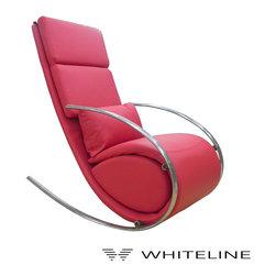 Whiteline Chloe Rocker Chair - Whiteline Chloe Rocker Chair