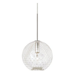 LBL Lighting - LBL Lighting Bulle Clear Monopoint 1 Light Track Pendant - LBL Lighting Bulle Clear Monopoint 1 Light Track PendantAdd a unique beauty to any décor with this stylish blown glass pendant featuring Clear glass with perfectly spaced bubbles all around. This one of a kind design is sure to add appeal to any home or office locale.Each Monopoint lighting fixture includes a single-point canopy with built-in transformer right out of the box for a quick and easy installation.LBL Lighting Bulle Clear Monopoint Features: