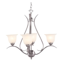 Trans Globe Lighting - Trans Globe Lighting ES Ribbon Branched Transitional Chandelier X-NB 0829-LP - This beautifully smart chandelier presents a casual look with a graceful touch. The Trans Globe Lighting ES Ribbon Branched Transitional chandelier illuminates the space with warm, intimate lighting. The marbleized glass offsets the dark rubbed oil bronze finish. The open Metal frame provides an airy vibe to the room.