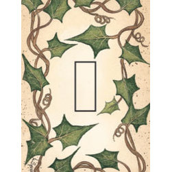 IdeaStix - Ivy Single Toggle Peel and Stick Switch Plate Cover - SwitchStix transforms an ordinary switch plate into beautiful art decorations.  Made from proprietary rubber-resin, Premium SwitchStix Peel and Stick Decor offers a quick and easy solution for decorating plain switch plates.  With features like water/heat/steam-resistant, nontoxic, washable, removable and reusable, it is ideal for any room in the house or office.  SwitchStix fits standard size switch plates and applies right over the switch plate and it even covers the screw holes.  Suitable for standard size non-porous and smooth switch plates.  Discard mid-section for toggle switch placement.  Surface can be washed with most household cleaning products.