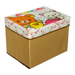 Blancho Bedding - Rilakkuma -Singing and DancingRectangle Foldable Storage Ottoman/Storage Boxes - The Foldable Storage Seat will make an ideal addition to your room, which combines accessible everyday storage with a useful occasional seat. Not only does it provide you a comfortable place to rest, but it also offers extra space to store your gaming gear, gadgets, books, magazines, and other household necessities. With lots of storage space, the ottoman helps you keep your room free from clutter. Made with non-woven fabric and durable cardboard. It spices up your home's decor, and create a multifunctional storage unit for all around your home.