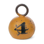 Colorful Decorative Paper Weight or Door Stop - YELLOW - Home Decor - This classic fishing weight is a very trendy home décor item. Use it as a hefty paper weight, a doorstop or just a funky sculpture for display. This colorful old timey reproduction sinker has a black felt bottom so it will not scratch anything it rests on. It's very hefty and weighs 4 lbs…