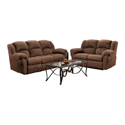 Chelsea Home Furniture - Chelsea Home Ambrose 5-Piece Living Room Set in Aruba Chocolate - Ambrose 5-Piece Living Room Set in Aruba Chocolate belongs to Verona IV collection by Chelsea Home Furniture.