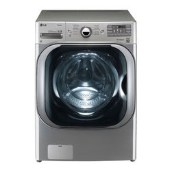 """LG - WM8000HVA 29"""" 5.2 cu.ft. Mega Capacity TurboWash Washer with Steam Technology  T - The LG WM8000H 52 DOE Cu Ft high-efficiency front load washer with steam is able to wash a king size comforter and a full set of bedding in a single load And just think how much more amazing this would be if you could tackle a regular load of laundry..."""
