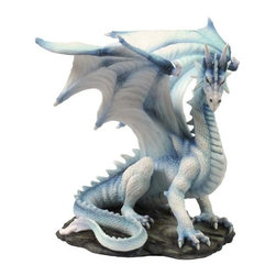 US - 7.75 Inch Fantasy Figure White with Blue Accents Dragon Collectible - This gorgeous 7.75 Inch Fantasy Figure White with Blue Accents Dragon Collectible has the finest details and highest quality you will find anywhere! 7.75 Inch Fantasy Figure White with Blue Accents Dragon Collectible is truly remarkable.