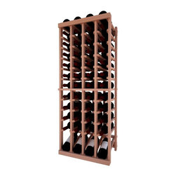 Wine Cellar Innovations - 4 Col Indv Top Stack w/Display; Vintner: Allheart Redwood, Unstained, 4 Ft - Each wine bottle stored on this four column individual bottle wine rack is cradled on customized rails that are carefully manufactured with beveled ends and rounded edges to ensure wine labels will not tear when the bottles are removed. This wine rack also has a built in display row. Purchase two to stack on top of each other to maximize the height of your wine storage. Moldings and platforms sold separately. Assembly required.