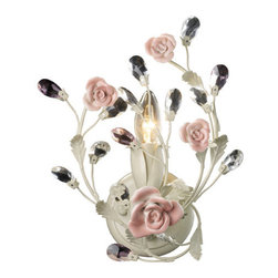 Elk Lighting - Elk Lighting 18093/1 Single Light Wall Sconce from the Heritage Collection - Single light wall sconce from the heritage collectionPorcelain roses vanityFeatures :