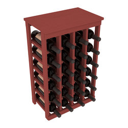 Wine Racks America - 24 Bottle Kitchen Wine Rack in Ponderosa Pine, Cherry Stain - Petite but strong, this small wine rack is the best choice for converting tiny areas into big wine storage. The solid wood top excels as a table for wine accessories, small plants, or whatever benefits the location. Store 2 cases of wine in a space smaller than most televisions!