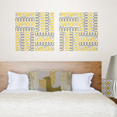 Aztec Diamond Blox Wall Decals by Jonathan Adler for WallPops - Chic yellow wall art with a sassy shimmer accent by Jonathan Adler for WallPops.
