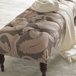 Horchow - Paisley Bench - Benches are a great go-to solution for just about any room. We especially like them in the living room where they can do double-duty as a coffee table or stand in as extra seating, but we also think they're a great addition to the guest room. There, the...