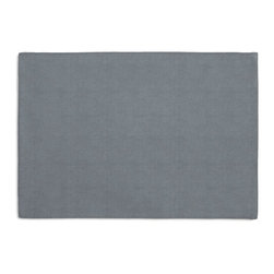 Muted Blue Textured Linen Custom Placemat Set - Is your table looking sad and lonely? Give it a boost with at set of Simple Placemats. Customizable in hundreds of fabrics, you're sure to find the perfect set for daily dining or that fancy shindig. We love it in this country blue slubby linen with a slightly loose weave for a casual look.