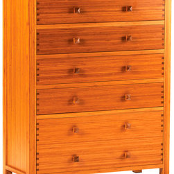 Greenington Bamboo - Greenington Bamboo Hosta Caramelized Bamboo Five Drawer Chest -