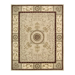 Nourison - Nourison Versailles Palace Beige Area Rug - Fit for royalty as the name suggests This collection features stunningly elegant designs inspired by th Century French carpets and handmade with intriguing articulation from the highest quality wool. Features a dense luxurious pile and handcarved for added dimension with delicate accents that are a pleasure to both look at and touch.