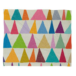 DENY Designs - Nick Nelson Analogous Shapes In Bloom Fleece Throw Blanket - This DENY fleece throw blanket may be the softest blanket ever! And we're not being overly dramatic here. In addition to being incredibly snuggly with it's plush fleece material, it's maching washable with no image fading. Plus, it comes in three different sizes: 80x60 (big enough for two), 60x50 (the fan favorite) and the 40x30. With all of these great features, we've found the perfect fleece blanket and an original gift! Full color front with white back. Custom printed in the USA for every order.