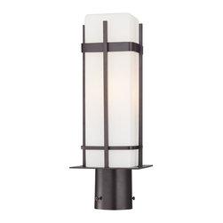 Minka Lavery - Minka Lavery Outdoor 72356-615B-PL Sterling Heights 1 Light Post Mount - Dorian Bronze Finish