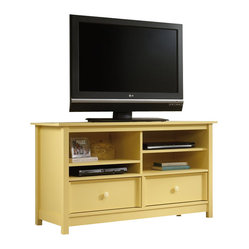 Sauder - Sauder Original Cottage TV Stand in Melon Yellow - Sauder - TV Stands - 414244 -