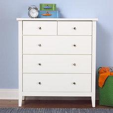 White Blake 2-Over-3 Dresser