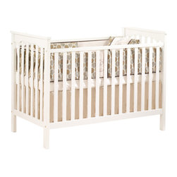 Natart - Natart Barcelona Crib, French White - GREENGUARD Certified (Children & Schools SM Certification Program) - low VOCs