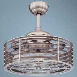 14 Savoy House Sea Side Satin Nickel Ceiling Fan