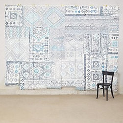 """Anthropologie - Grand Bazaar Mural - SureStrip for easy removalDigitally printed paper8 panels, 18""""W eachNo repeatRoll: 96""""H, 144""""WCovers 96 square feetUSA"""