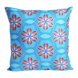 Modern 100% Cotton Colorful Pillow Cover - The colorful allure of African Dutch wax-print fabric is hard to resist. A tradition that dates back to the mid 1800s, the batik printed cotton—as seen on this modern throw pillow cover—is often covered in regional designs created to commemorate cities, local celebrities, special occasions, and more.