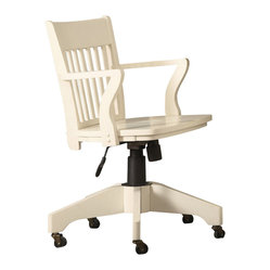 Homelegance Hanna Swivel Office Chair In White Products on Houzz